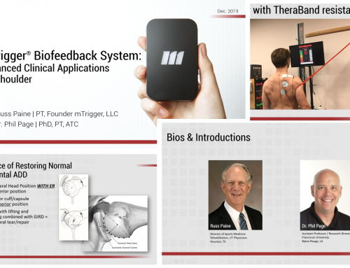 mTrigger: Advanced Clinical Applications for Shoulder – REGISTER TODAY!