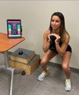Goblet Squat with biofeedback on Transverse Abdominus